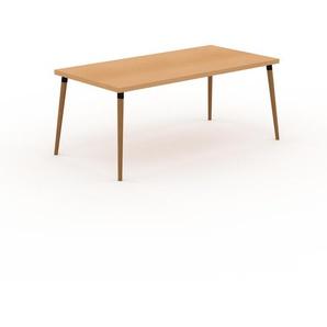 Table scandinave - Hêtre, style nordique, plateau de table épuré - 180 x 75 x 90 cm, personnalisable