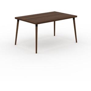 Table en noyer, bois massif, design contemporain, table en bois élégante - 140 x 75 x 90 cm, personnalisable