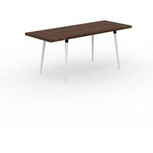 Table en noyer, bois massif, design contemporain, table en bois élégante - 180 x 75 x 70 cm, personnalisable