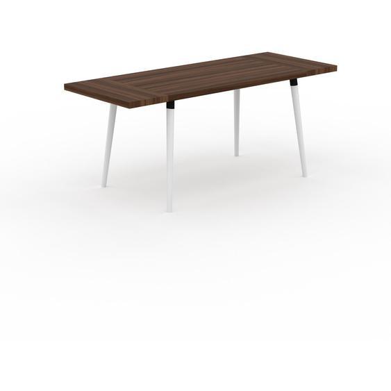 Table scandinave - Noyer, style nordique, plateau de table épuré - 180 x 75 x 70 cm, personnalisable