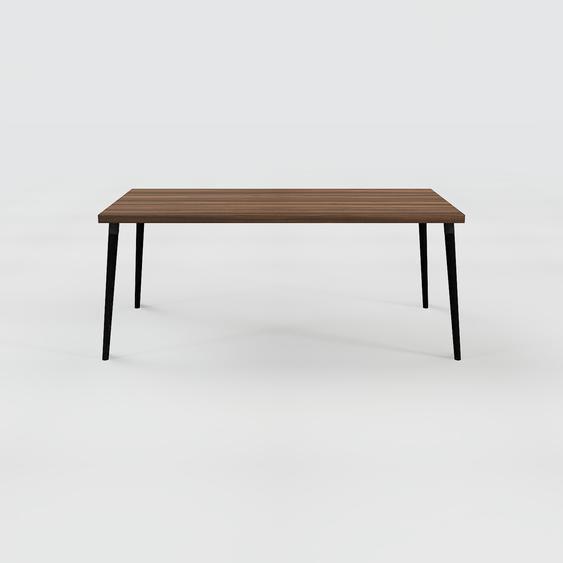 Table scandinave - Noyer, style nordique, plateau de table épuré - 180 x 75 x 90 cm, personnalisable