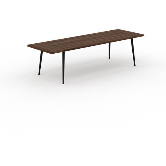 Table scandinave - Noyer, style nordique, plateau de table épuré - 280 x 75 x 90 cm, personnalisable
