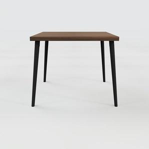Table en noyer, bois massif, design contemporain, table en bois élégante - 90 x 75 x 90 cm, personnalisable