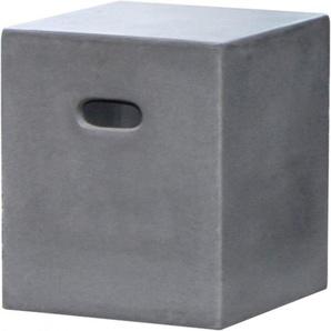 Tabouret de jardin fibre de ciment aspect béton
