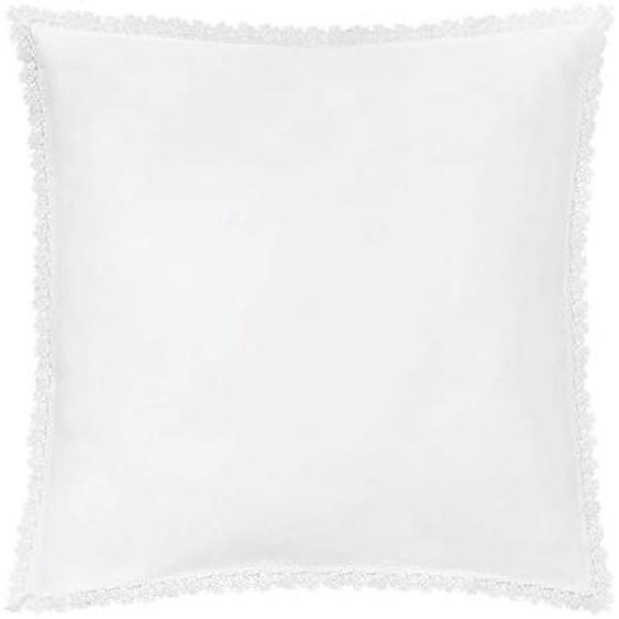 Taie doreiller INFANTILLAGE blanche ornée dune guipure en satin de coton