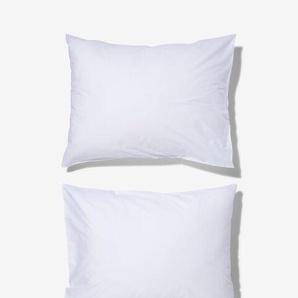 Taies D'oreiller - Coton Doux Blanc (blanc)