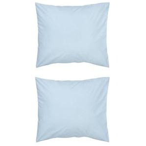 Taies D'oreiller - Coton Doux Bleu Clair (bleu clair)