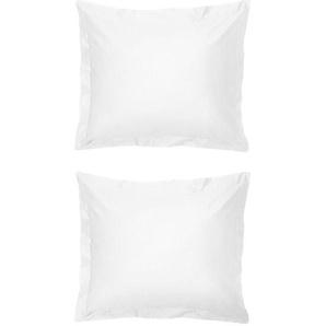 Taies D'oreiller - Hôtel Percale De Coton Blanc (blanc)