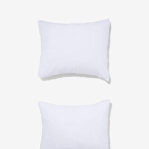 Taies D'oreiller - Jersey Coton Blanc (blanc)