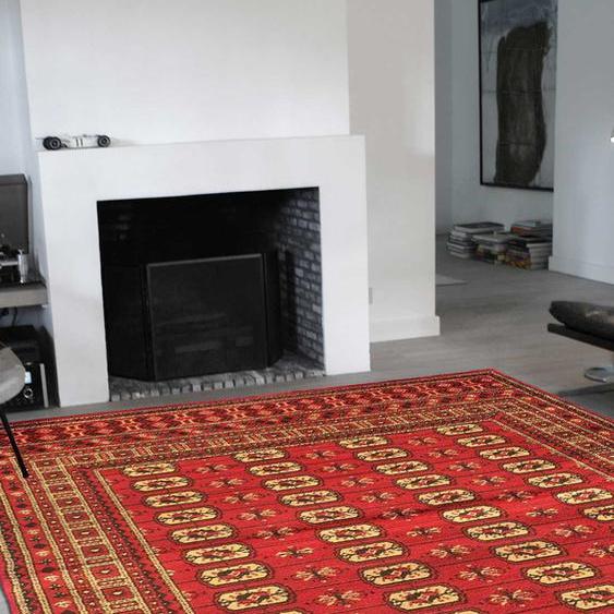 Tapis Chambre Bc Boukara Rouge 200 X 290 Cm Fabriqué En Europe Tapis De Salon Moderne Design Par Unamourdetapis