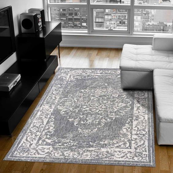 Tapis Chambre Bc Reversible Medaillon Argent 240 X 340 Cm Fabriqué En Europe Tapis De Salon Moderne Design Par Unamourdetapis