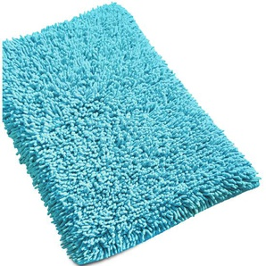 Tapis de bain 50x80 cm CHENILLE Turquoise 1800 g/m2