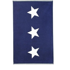 Tapis de bain 60x90 cm 100% coton 700 g/m2 STARS Bleu Marine