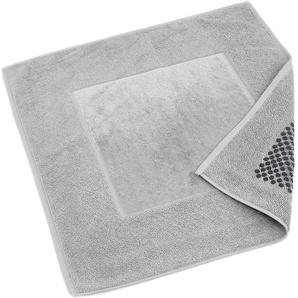 Tapis de bain antidérapant 60x60 cm velours PRESTIGE gris Argent