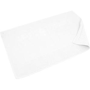 Tapis de bain antidérapant 60x90 cm velours PRESTIGE blanc