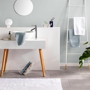 Tapis de Bain Loops Blanc 50x80 cm - Tapis pour salle de bain