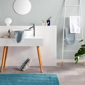 Tapis de Bain Loops Bleu 50x80 cm - Tapis pour salle de bain