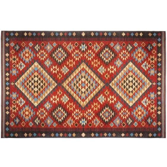 Tapis de salon Kilim - 100 x 150 cm - Rouge