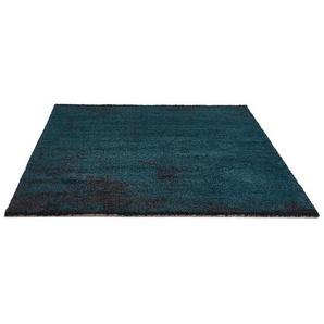 Tapis de salon LOUIX 160/230 cm bleu paon avec dégradé noir