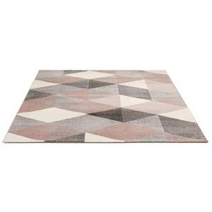 Tapis design GRAFIK 160/230 cm avec motifs graphiques roses