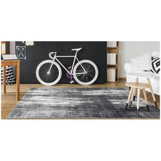 Tapis effet usé BLURRY - 160 x 230 cm - gris