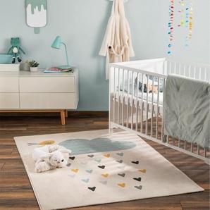 Tapis enfant Juno Beige 120x170 cm - Tapis pour chambre denfants/bébé