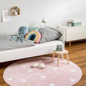 Tapis lavables pour enfants Bambini Dots Rose ø 150 cm rond - Tapis lavable pour chambre denfants/bébé