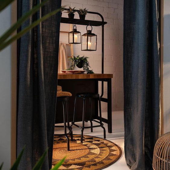 Tapis poil ras de jute Sahara Marron ø 90 cm rond - Tapis poil court design moderne pour salon