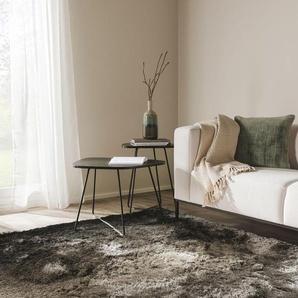 Tapis shaggy à poils longs Whisper Anthracite/Gris 140x200 cm - Tapis doux pour salon