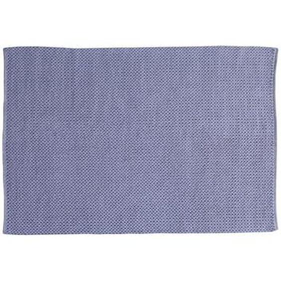 Tapis tissé main en coton HALK - 160 x 230 cm - Gris Bleu