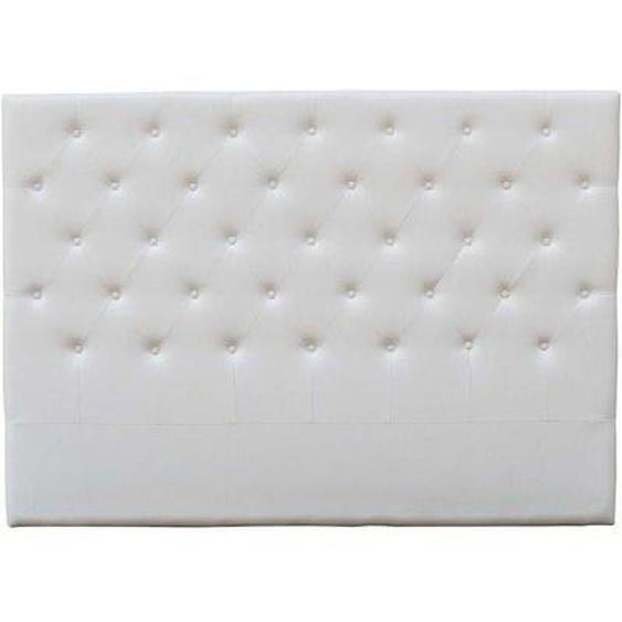 Tête de lit capitonnée Déco - 189 cm - Blanc - En PVC