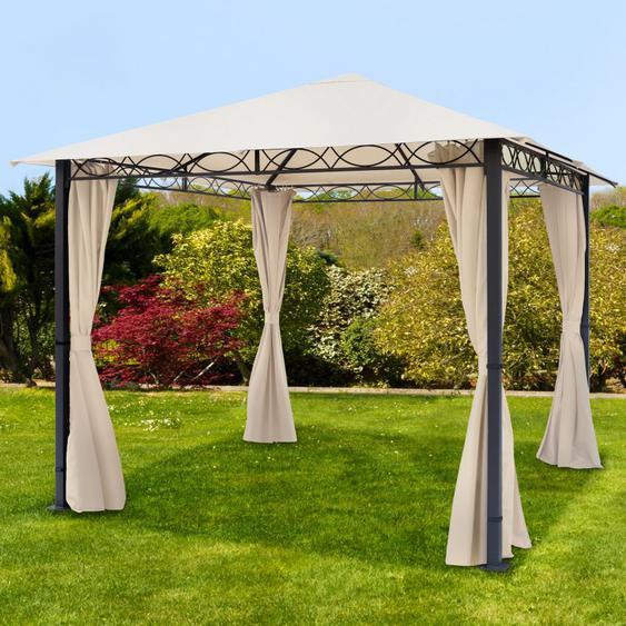 Tonnelle de jardin Paradise Premium champagne, 3x3m