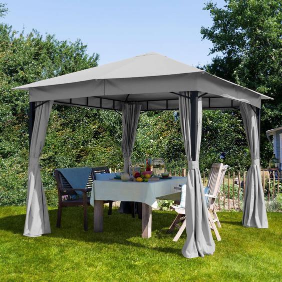 Tonnelle de jardin Sunset Classic gris perle, 3x3m