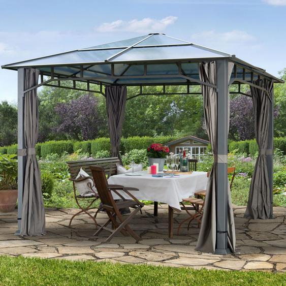 Tonnelle de jardin Sunset Deluxe gris, 3x3m