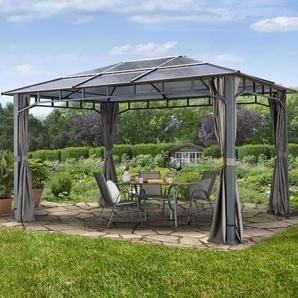 Tonnelle de jardin Sunset Deluxe gris, 3x4m