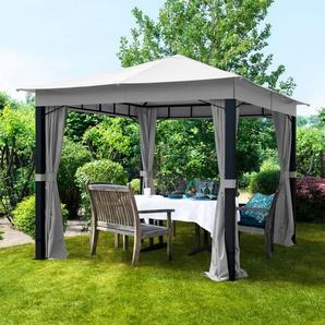 Tonnelle de jardin Sunset Premium gris perle, 3x3m