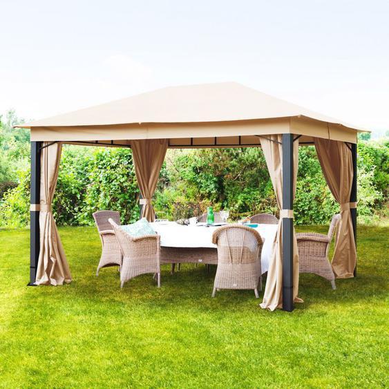 Tonnelle de jardin Sunset Premium taupe, 3x4m
