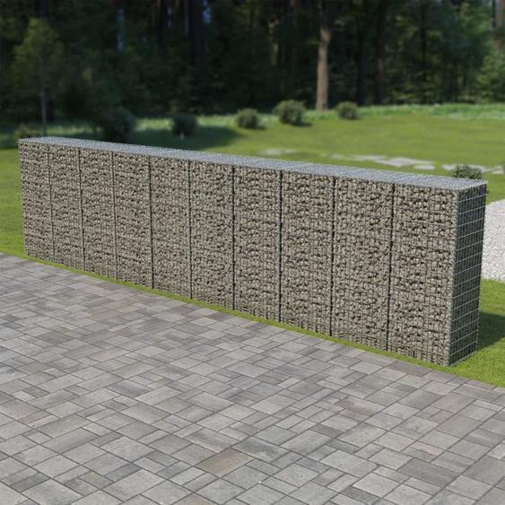 VDTD05485_FR Mur à gabion avec couvercles Acier galvanisé 600 x 50 x 150 cm - Topdeal