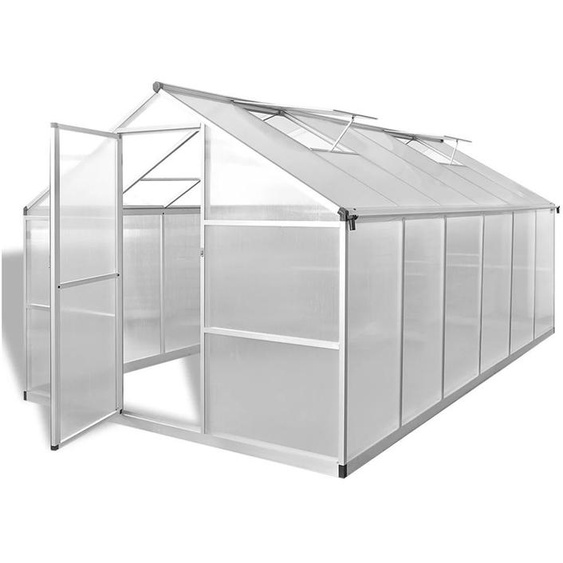 VDTD26457_FR Serre renforcée en aluminium avec cadre de base 9,025 m2 - Topdeal