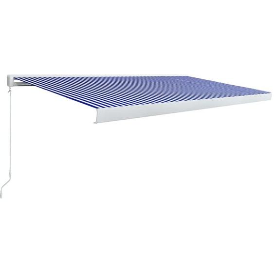 Topdeal VDTD39644_FR Store à cassette manuel 500x300 cm Bleu et blanc