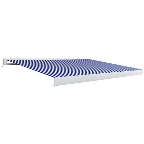 VDTD39625_FR Store à cassette motorisé 400x300 cm Bleu et blanc - Topdeal