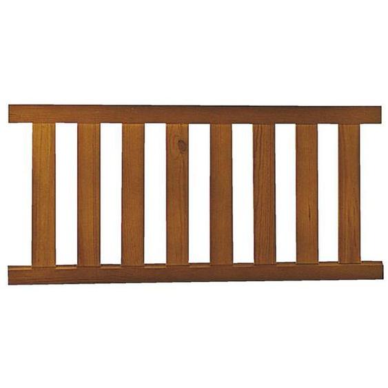 Travée bois exotique STYLE avec équerres 70 x l.200