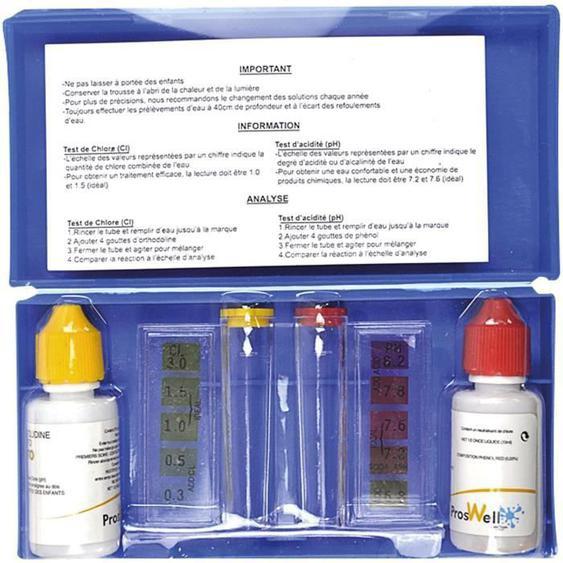 Trousse danalyse ph et chlore