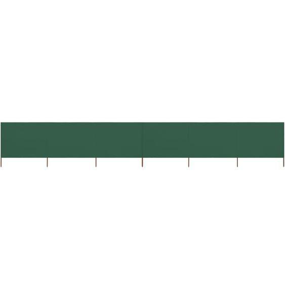 Paravent 6 panneaux Tissu 800 x 120 cm Vert