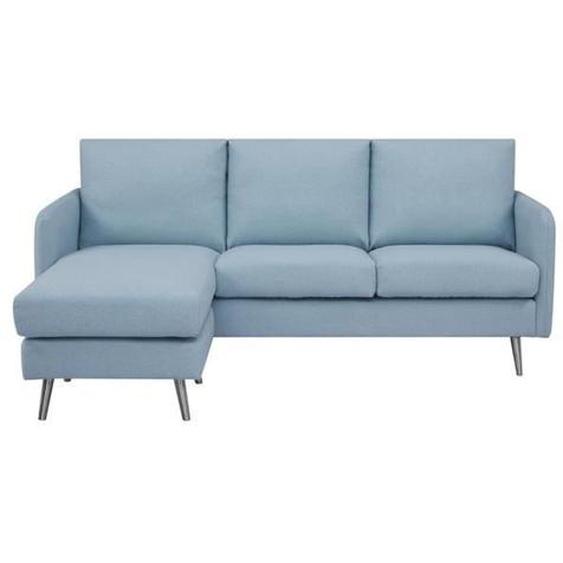 Canapé dangle réversible  - Tissu Bleu clair - Pieds en acier - L 187 x P 81/137 x H 83 cm - TYLER