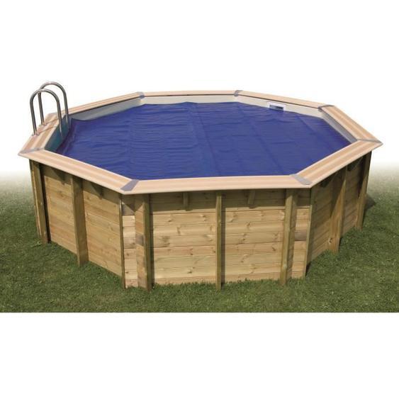UBBINK Bâche à bulles bordée pour piscine 470x820 cm - Bleu