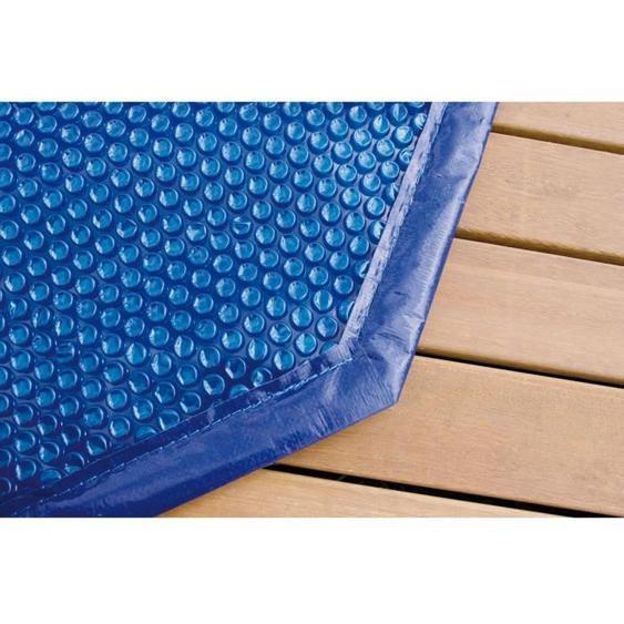 UBBINK Bâche à bulles bordée pour piscine en bois Ø360 cm - Bleu
