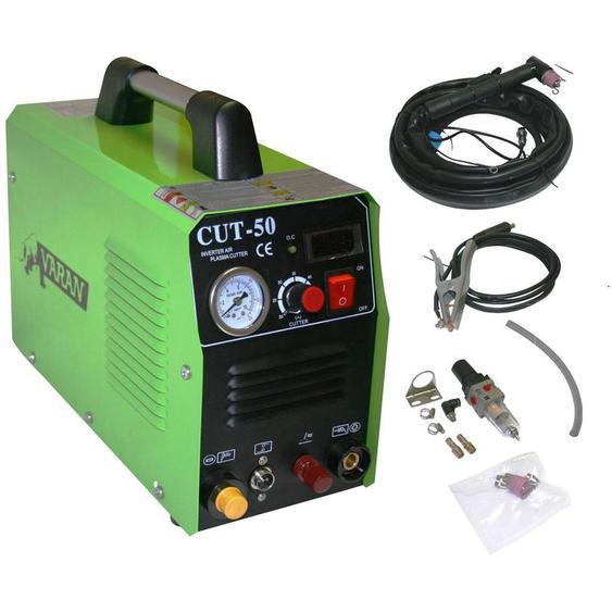 Varan Motors - var-cut50PILOT Découpeur Plasma portatif 50A CUT-50 Inverter + manomètre + fonction ARC PILOT