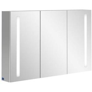 Villeroy & Boch my view 14+ Armoire toilette 120x75x17.3cm avec 3 portes et éclairage LED vertical et boîte de médicaments fermée a4331200