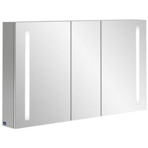 Villeroy & Boch my view 14+ Armoire toilette 130x75x17.3cm avec 3 portes et éclairage LED vertical et boîte de médicaments fermée a4331300
